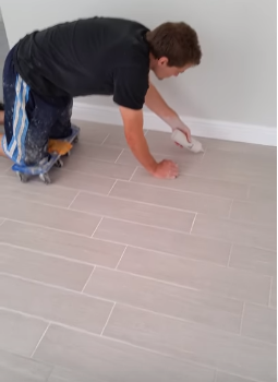 porcelain wood tile grout