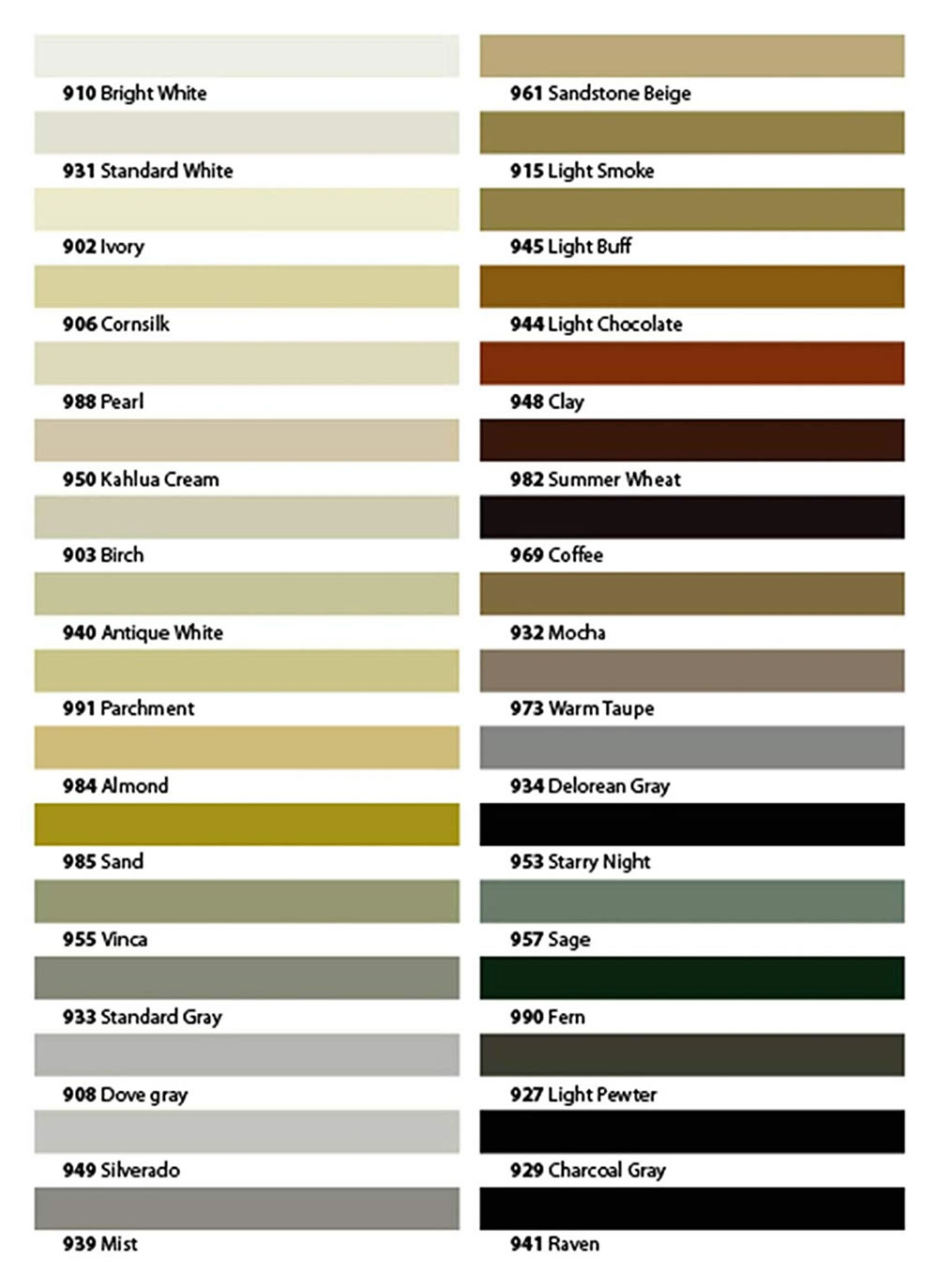 TEC Grout Colors
