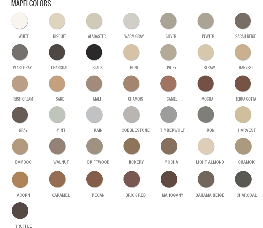 Info/Color Charts | Grout Shield | Grout Restoration System | Grout